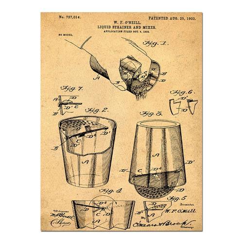 Cocktail Mixer-1903 Sepia/Antique   Paper