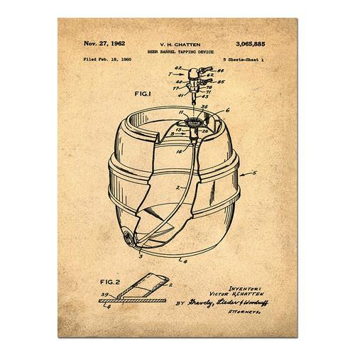 EZ Tap Keg-Sepia/Antique   Paper