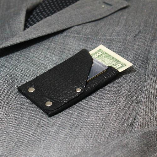 The Frontier Shark Skin Wallet | Black