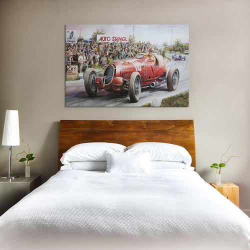 Alfa Romeo Heading To Victory Vintage Drawing