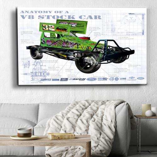 Anatomy V8 Stockcar | Canvas
