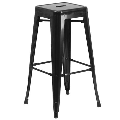 30'' High Indoor-Outdoor Barstool with Square Seat