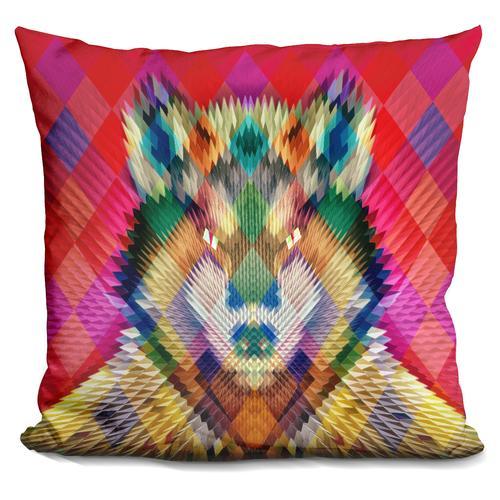 'Corporate wolf cushion' Throw Pillow