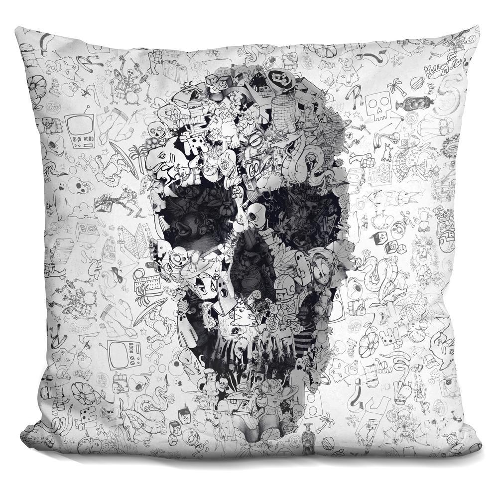 Throw Pillow Doodle : Ali Gulec Doodle s bw Throw Pillow
