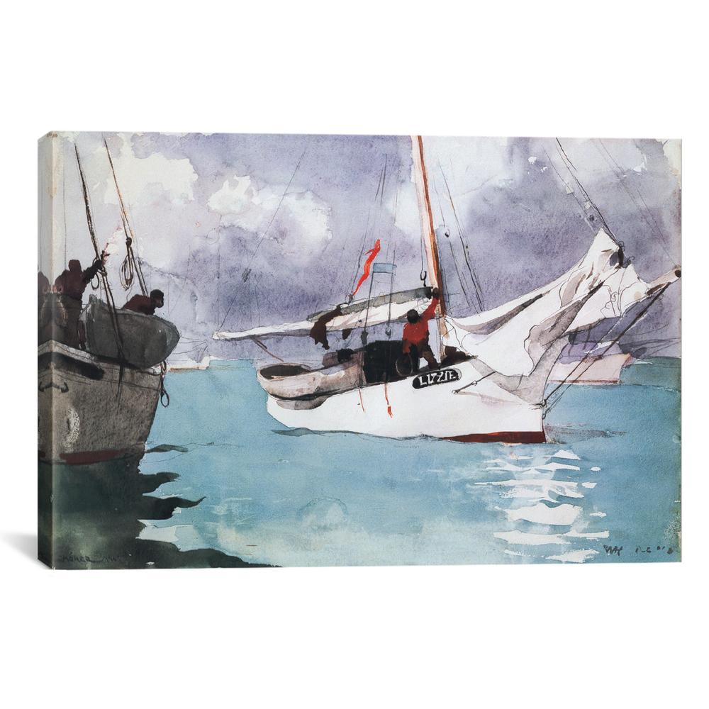Fishing Boats, Key West 1903 By Winslow Homer Canvas Print
