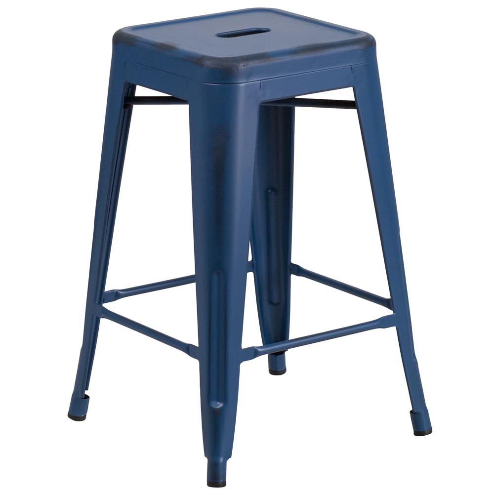 Indoor Outdoor Counter Height Stool Flash Furnitur