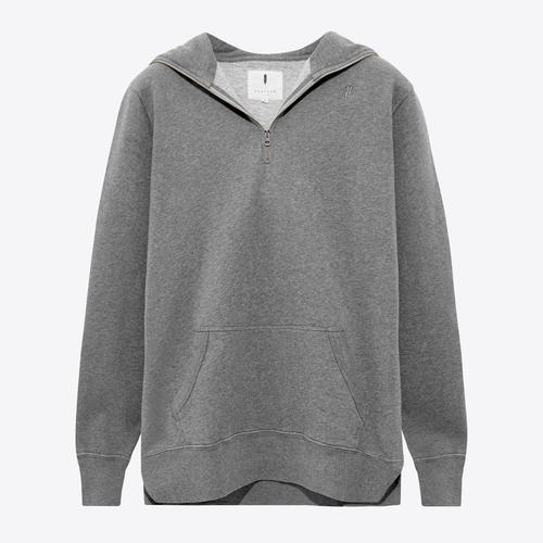 Zip Pullover Hood| Grey