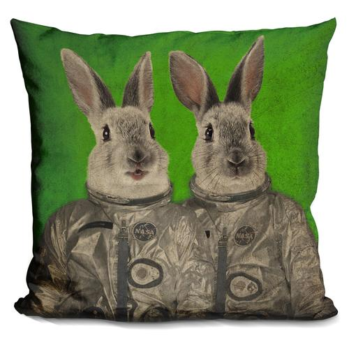 Durro Art 'We are ready green' Throw Pillow