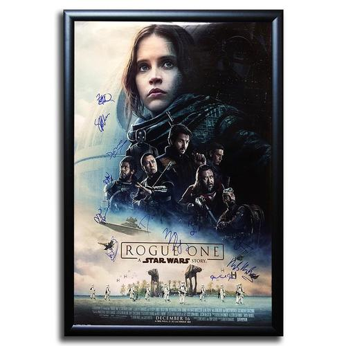 Signed movie poster