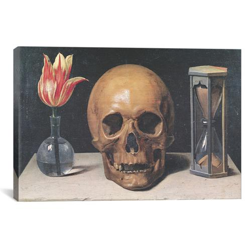 Still Life With A Tulip, Skull And Hour-Glass