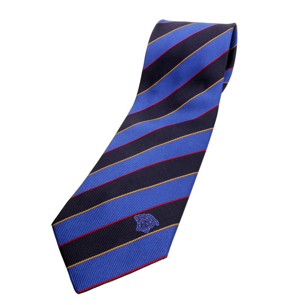 versace silk tie bluedark bluered