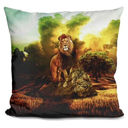 Riza Peker 'Lion VI' Throw Pillow