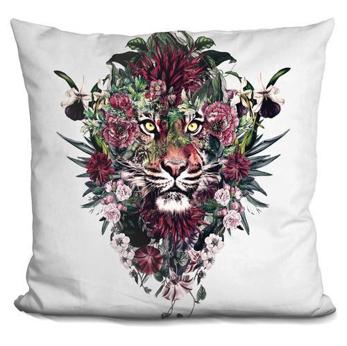 Riza Peker 'TIGER V' Throw Pillow