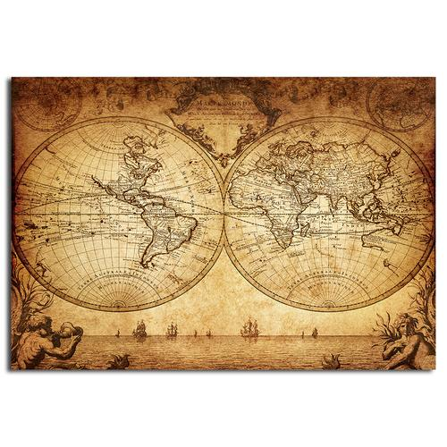 Old hemisphere world map vintage map mural for Antique world map mural