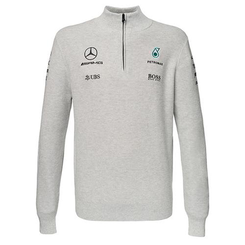MERCEDES AMG PETRONAS 1/2 ZIP KNITTED SWEATER 2017